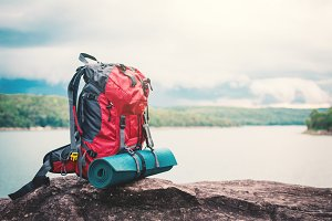 Bag for backpacker in the nature