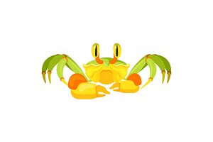 Fiddler crab with five pair of legs