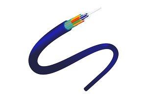 Fiber optics object closeup of blue