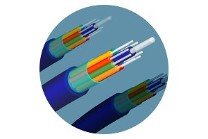 Fiber optics cable technology set in