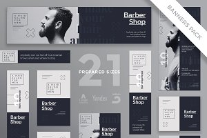 Banners Pack | Barber Shop