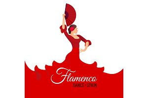 Flamenco dance Spain poster with