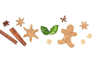 Christmas gingerbread cookies and