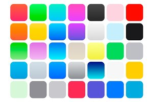 iOS 7 Color Swatches & Gradients