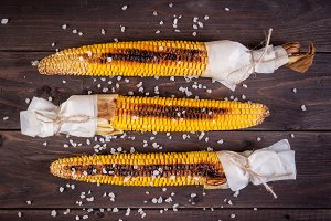 Organic Grilled Corn with sea salt o