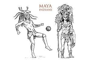 Maya Vintage style. Aztec culture