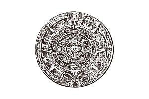 Vintage Mayan calendar. traditional