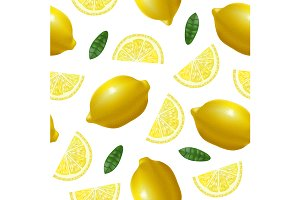 Lemon  Pattern Background.