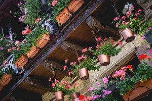 Beautiful balcony with flowers.