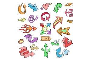Arrow icons vector arrowheads