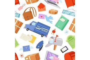Postoffice vector postman delivers