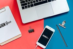 Letterhead & iPhone Mockup