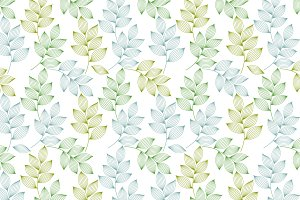 Striped leaves seamless pattern