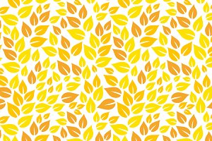 Yellow autumn leaf seamless pattern