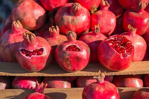 Group of pomegranates. Pomegranate c