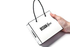 White Gift Bag Mockup