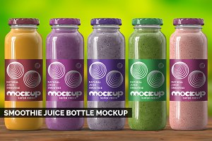 Smoothie Juice Bottle Mockup