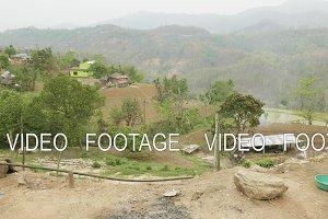 Chicken eats in nepalese village