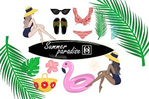 Summer fashion clipart