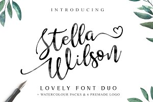 Stella Wilson Font Duo & Extras