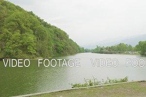 Main lake in Pokhara, Nepal.