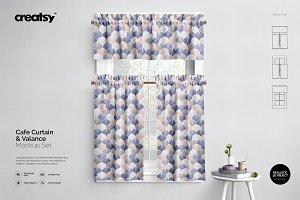 Valance & Cafe Curtains Mockup Set