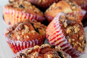 Homemade Nut Muffins Ready to Eat