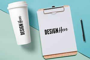 Coffee Cup & Letterhead Mockup