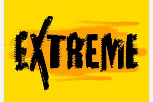 Vector Extreme Lettering