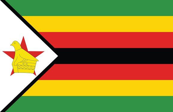 Vector of Zimbabwe flag.