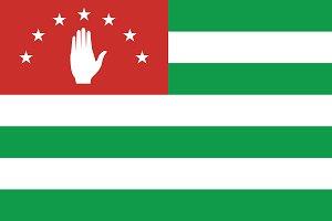 Vector of Abkhazian flag.