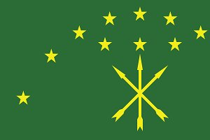 Vector of Adygean flag.