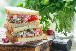 Sandwich  Tuna and vegetable salad