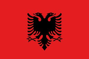 Vector of Albanian flag.