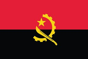 Vector of Angolan flag.