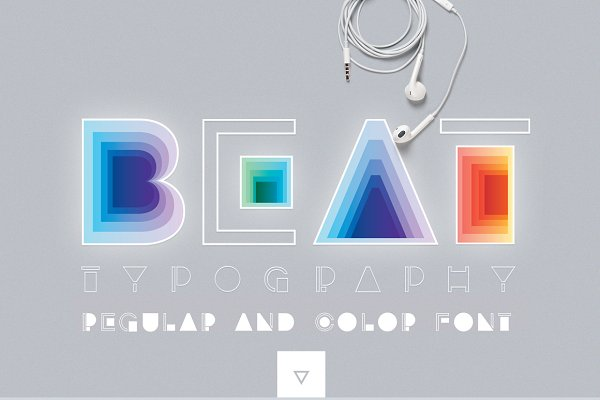 BEAT typography- SVG Color Font