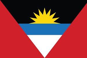 Vector of Antigua and Barbuda flag.