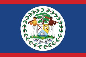 Vector of Belize flag.
