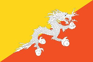 Vector of Bhutan flag.