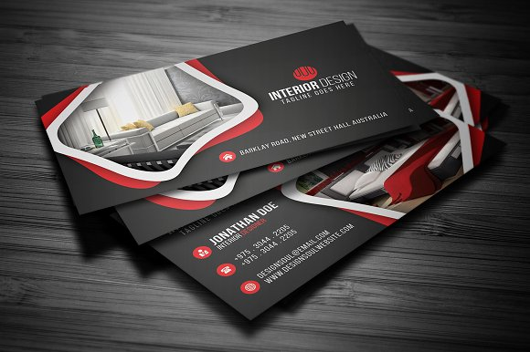 Interior Design Business Card Creative Daddy