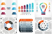 Infographics for 6 options. Set 2