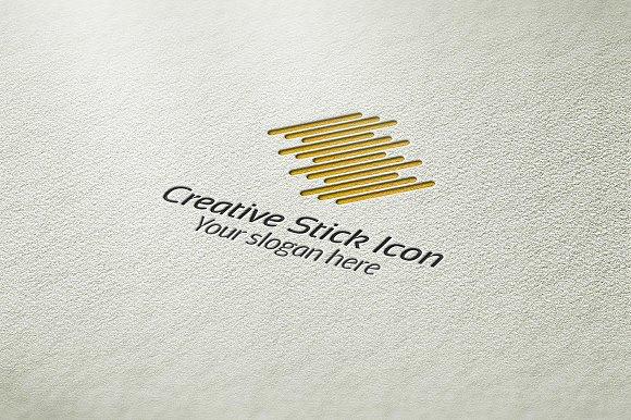 Creative Stick Icon Logo