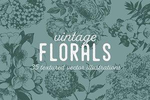 VINTAGE FLORALS | 35 Vectors