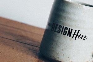 Vintage Mug Closeup Mockup
