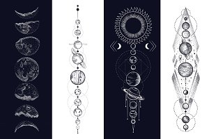 space. style engraving