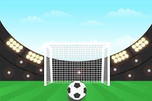 Best Stadium Soccer Illustration