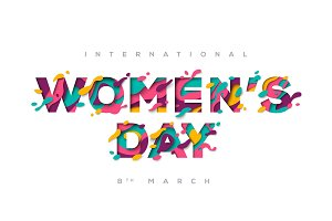 Women's day typography