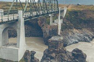 Bridge on The Skjalfandafljot river