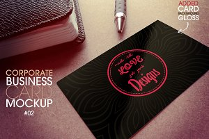 Corporate Business Card Mockup 2