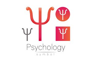 Modern logo of Psychology. Psi